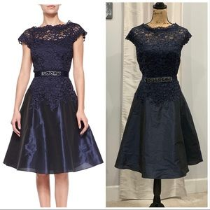 Teri Jon cap sleeve lace taffeta dress size 14